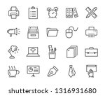 set of office icons  such as... | Shutterstock .eps vector #1316931680