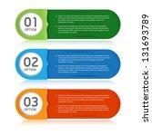 modern design template numbered ... | Shutterstock .eps vector #131693789