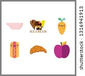 6 delicious icon. vector... | Shutterstock .eps vector #1316941913