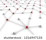 abstract conception of network...   Shutterstock . vector #1316947133