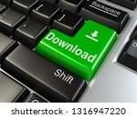 green download keyboard button... | Shutterstock . vector #1316947220