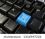 shopping cart symbol at the... | Shutterstock . vector #1316947226