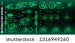 hud futuristic green user... | Shutterstock .eps vector #1316949260