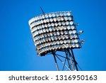 floodlights mounted on metal... | Shutterstock . vector #1316950163