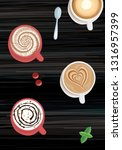 coffee creamy  latte and others ... | Shutterstock .eps vector #1316957399
