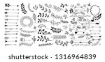 set of hand drawing page... | Shutterstock .eps vector #1316964839