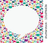 bubble of communication in... | Shutterstock .eps vector #131696636