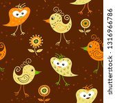 seamless pattern with funny... | Shutterstock .eps vector #1316966786
