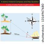 a island  b island  compass and ... | Shutterstock .eps vector #1316967680