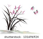 chinese orchid and butterfly...