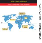 war zones on earth | Shutterstock .eps vector #1316973293