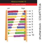abacus model  1 to 10 numbers ... | Shutterstock .eps vector #1316975516
