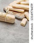 italian savoiardi ladyfingers...   Shutterstock . vector #1316976659