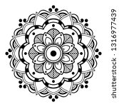 mandala pattern black and white | Shutterstock .eps vector #1316977439