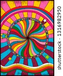 psychedelic poster  cover ... | Shutterstock .eps vector #1316982950