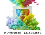 ink in water. splash acrilyc... | Shutterstock . vector #1316983559