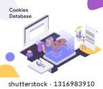 cookies database isometric... | Shutterstock .eps vector #1316983910