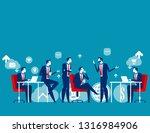 business meeting. concept... | Shutterstock .eps vector #1316984906