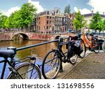 Amsterdam Canal Scene With...