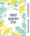 women s day flyer or poster... | Shutterstock .eps vector #1316990699
