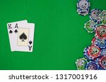 cards in the poker with chips... | Shutterstock . vector #1317001916