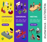 coworking people and equipment... | Shutterstock .eps vector #1317002936