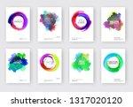 elegant brochure template... | Shutterstock .eps vector #1317020120