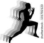 sprinters  vector background | Shutterstock .eps vector #131702123