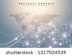 big data visualization. graphic ... | Shutterstock .eps vector #1317024539
