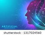 futuristic artificial... | Shutterstock .eps vector #1317024560