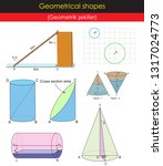 geometrical shapes for lessons | Shutterstock .eps vector #1317024773