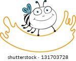 contour drawing bees and sheets ... | Shutterstock .eps vector #131703728