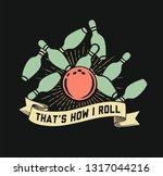 flat bowling vector clipart...   Shutterstock .eps vector #1317044216