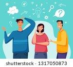 brainstorm new idea. people...   Shutterstock .eps vector #1317050873
