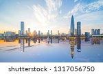 Shenzhen city scenery alternated day and night
