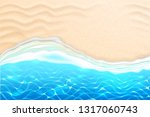 seaside beach with azure waves... | Shutterstock .eps vector #1317060743