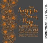 bridal invitation card | Shutterstock .eps vector #131707346