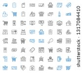 purchase icons set. collection... | Shutterstock .eps vector #1317084410