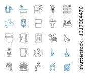 bath icons set. collection of... | Shutterstock .eps vector #1317084476