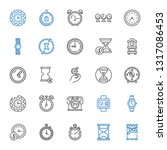 minute icons set. collection of ... | Shutterstock .eps vector #1317086453