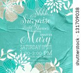 bridal invitation cards | Shutterstock .eps vector #131709038