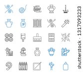 craft icons set. collection of... | Shutterstock .eps vector #1317093233