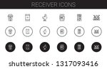 receiver icons set. collection... | Shutterstock .eps vector #1317093416