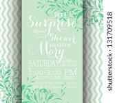 bridal invitation card | Shutterstock .eps vector #131709518