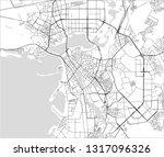 vector map of the city of kazan ... | Shutterstock .eps vector #1317096326