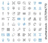 creativity icons set.... | Shutterstock .eps vector #1317096770