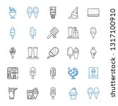 flavor icons set. collection of ... | Shutterstock .eps vector #1317100910