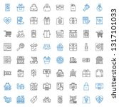 shopping icons set. collection... | Shutterstock .eps vector #1317101033