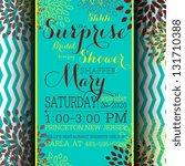 bridal invitation card | Shutterstock .eps vector #131710388