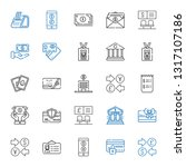account icons set. collection... | Shutterstock .eps vector #1317107186